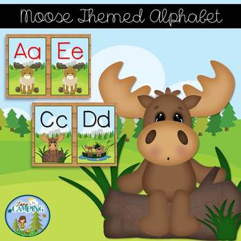 Moose Themed Alphabet