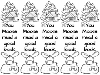 Moose bookmark