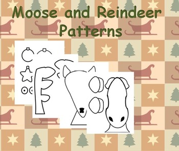 Moose or Reindeer Compare and Contrast Essay and Craftivity