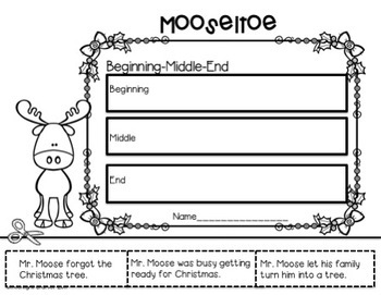 Mooseltoe Book Companion with Literacy and Math Activities