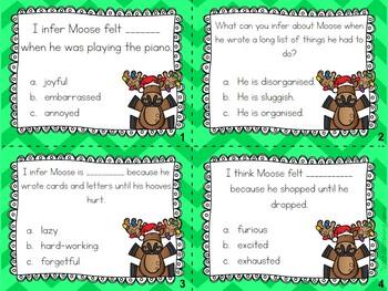 Mooseltoe Character Traits Task Cards | Christmas Book Companion