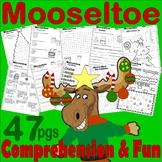Mooseltoe Christmas Book Companion Reading Comprehension Literacy Unit Activites