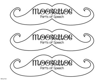 Mooseltoe Moose Antler Language Arts Craftivity