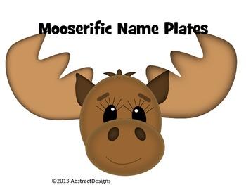 Mooserific Name Plates