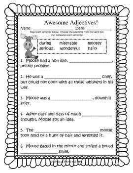 Moosetache - Fun activities to accompany the book