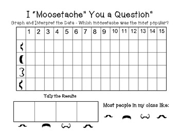 Moosetache Reading and Writing Activities