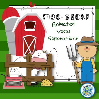 Moosical Animated Vocal Explorations - PowerPoint & Worksheets
