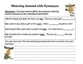 Moosing Around With Synonyms