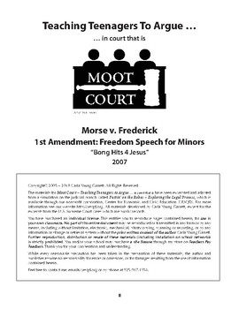 Moot Court – Teaching Teenagers to Argue ... in court that is