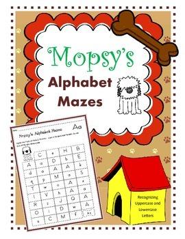 Alphabet Mazes / Uppercase and Lowercase Alphabet Recognit