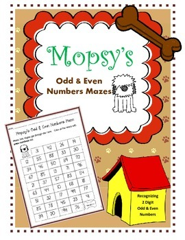 Odd & Even Numbers Mazes / 2 Digit Odd and Even Numbers Wo