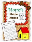 Shape Mazes / Shape Recognition Worksheets / Basic Shapes