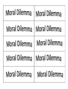 Moral Dilemmas Game