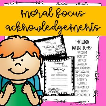 Moral Focus Acknowledgements