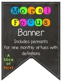 Moral Focus Banner (Chalkboard and Neon)