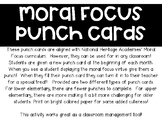Moral Focus Punch Cards (Character Count)