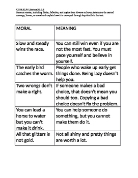 Moral and Meaning Match Up