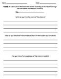 Moral of a Story Worksheet