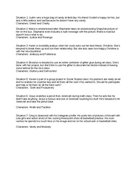 Morality Play Monologue Prompts and Templates (ESL)