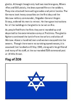 Mordechai Anielewicz  - The Warsaw Ghetto Uprising Handout
