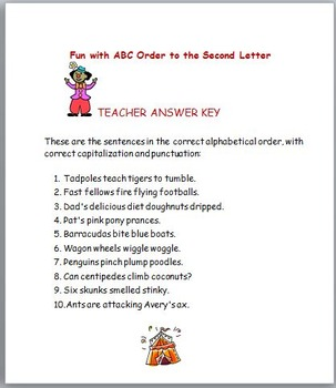 More ABC Order Fun !
