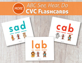 More ABC See, Hear, Do CVC Flashcards