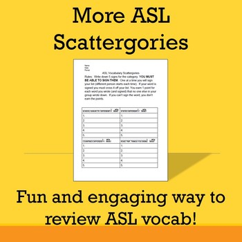 More ASL Scattergories (ASL 2+)