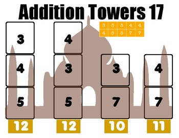 More Addition Towers: Tricky Addition Puzzles with Single Digit Addends