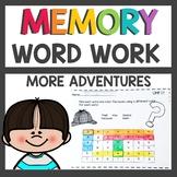 Memory Word Worksheets Part 2