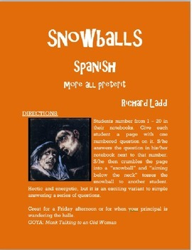 More All preterit Snowballs SPANISH