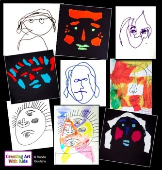 Art Lessons - Fun With Abstract Faces