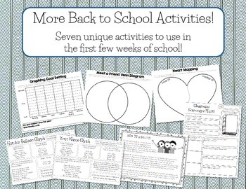More Back to School Activities!