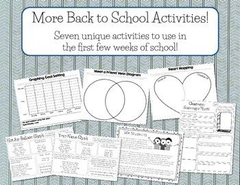 More Back to School Activities!