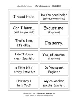 More Basic Vocabulary Flashcards ~ Spanish that Works