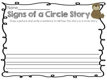 More Bears!  Retell Activity Packet