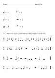 More Beginning Band Theory Worksheets with Notes and Rests