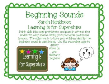 More Beginning Sounds Cards