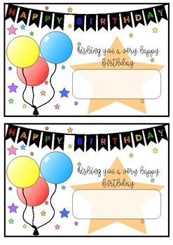 More Birthday Certificates