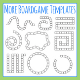 More Board Game Templates Clip Art Set for Commercial Use