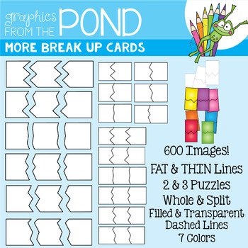 Puzzle Cards Clipart {More Break Up Cards Set}