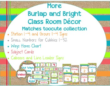 More Burlap and Bright Classroom Decor Matches toocute