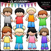More Casual Kids Clip Art - Boys / Girls Clip Art