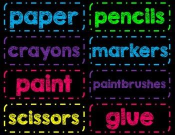 More Chalkboard Classroom Labels