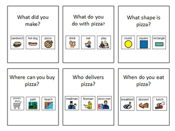 """More Cheese, Please!"" Adapted Pizza Building Activity"