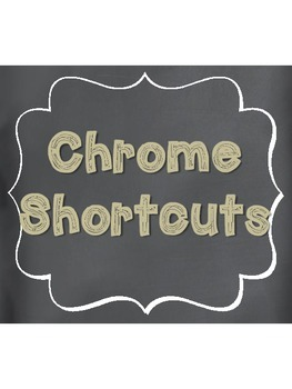More Chromebook Shortcuts Tan Burlap