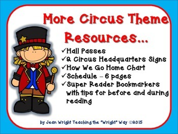 More Circus Theme Resources