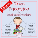 Cloze Passages More Cloze Passages for Beginning Readers