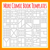 More Comic Book Templates / Graphic Novel Templates Clipart Commercial Use