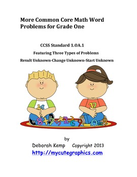 First Grade Math Word Problems Journal Part 2 Common Core Aligned