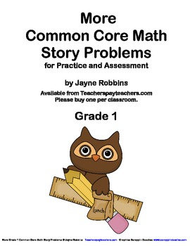 More Common Core Math Word/Story Problems Grade 1
